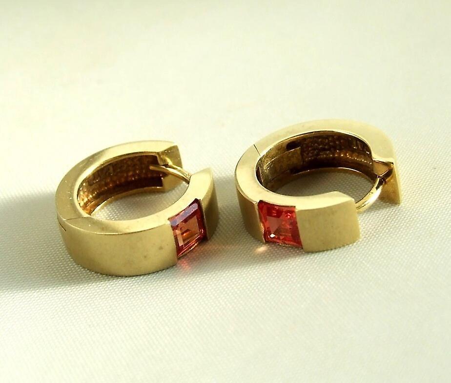 Golden citrine earrings