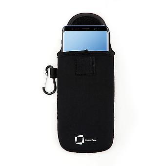 InventCase Neopren Skyddande påse fall för Samsung Galaxy S9 / S9 + Plus - Svart