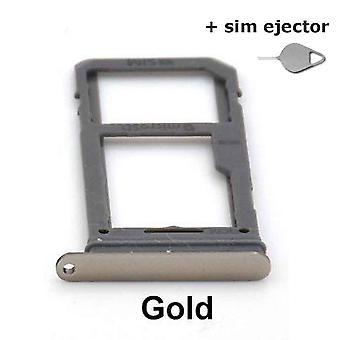 Simkaart/Micro SD houder voor Samsung Galaxy S8 - Goud + sim ejector