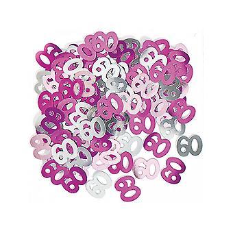 Syntymäpäivä Glitz Pink - 60 syntymäpäivä konfetti