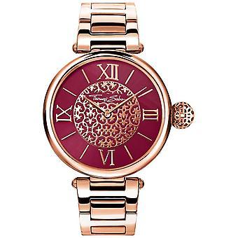 Thomas Sabo Womens Karma Rosegold Ton Armband rot Sunray Dial WA0306-265-212