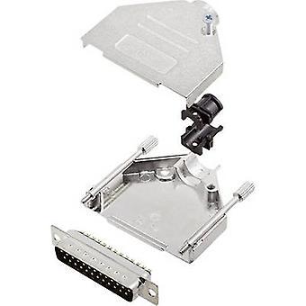 encitech DTZK25-DMP-K 6355-0002-23 D-SUB PIN strip set 180 ° aantal pinnen: 25 soldeer emmer 1 set
