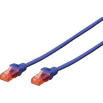Digitus DK-1617-100/B RJ45 Netzwerkkabel, Patchkabel CAT 6 U/UTP 10,00 m Blau Halogenfrei 1 Stk.