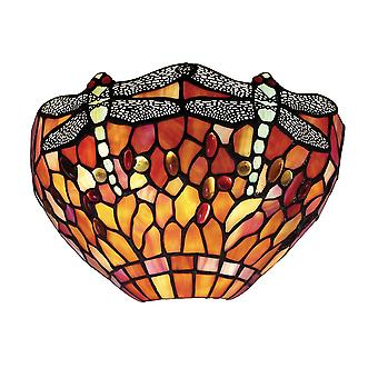 Interiors 1900 Flame Dragonfly Single Light Wall Uplighter