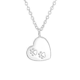 Heart - 925 Sterling Silver Plain Necklaces - W37188x