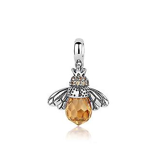 Sterling silver charm queen bee