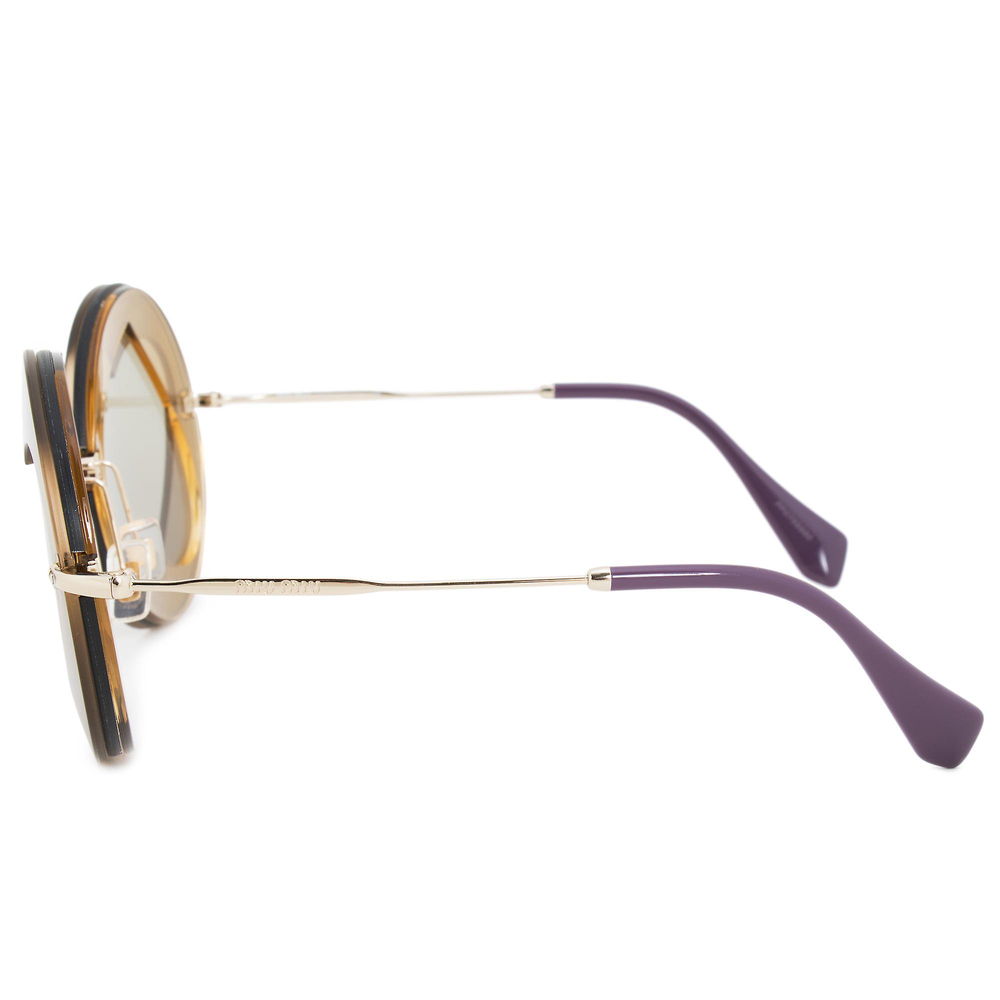 Miu Miu Round Sunglasses SMU01SS VA25J2 62