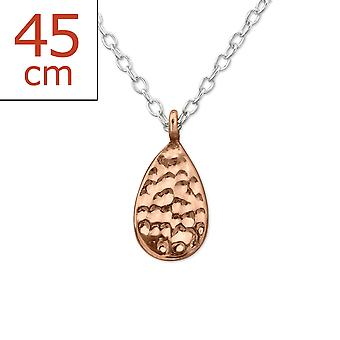 Damla - 925 Gümüş Düz Kolye - W29915x
