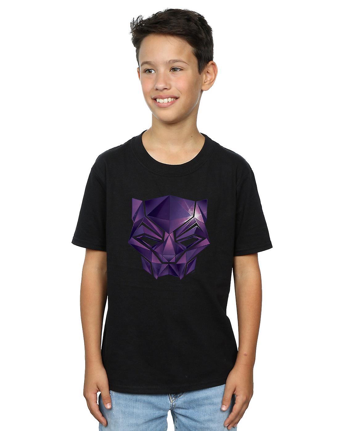 Marvel Boys Avengers Infinity War Black Panther Geometric T-Shirt