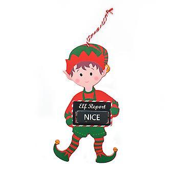 TRIXES 20cm ou má suspensão de madeira decoração Elf Design