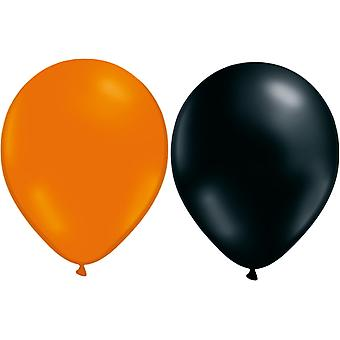 Ballons Orange/Noir 24-pack-Halloween