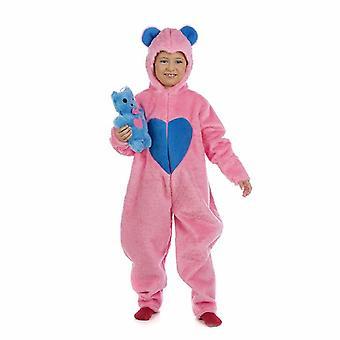 Enfants heureux ours en peluche rose costume costume de chance ours fille
