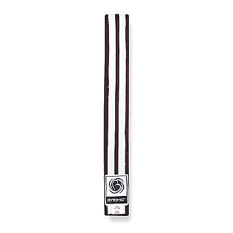 Bytomic dubbel Stripe bälte brun/vit