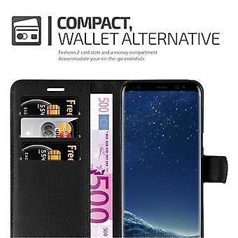 Cadorabo case for Samsung Galaxy S8 PLUS case case cover - phone case with magnetic clasp, stand function and card compartment – Case Cover Protective Case Case Book Folding Style