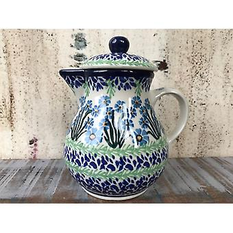 Jug with lid, vol. 0.6 l ^ 16 cm, forget me not, BSN J-2022