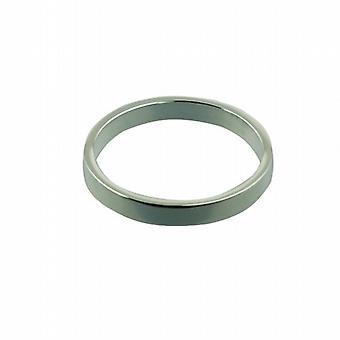 Plata 3 mm plano plano anillo tamaño Z