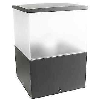 Cubik medio dissuasore all'aperto urbano grigio - Leds-C4 10-9.387-Z5-M3