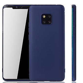 Huawei mate 20 por teléfono móvil vivienda Schutzcase contraportada bolsa manga caso casos azul