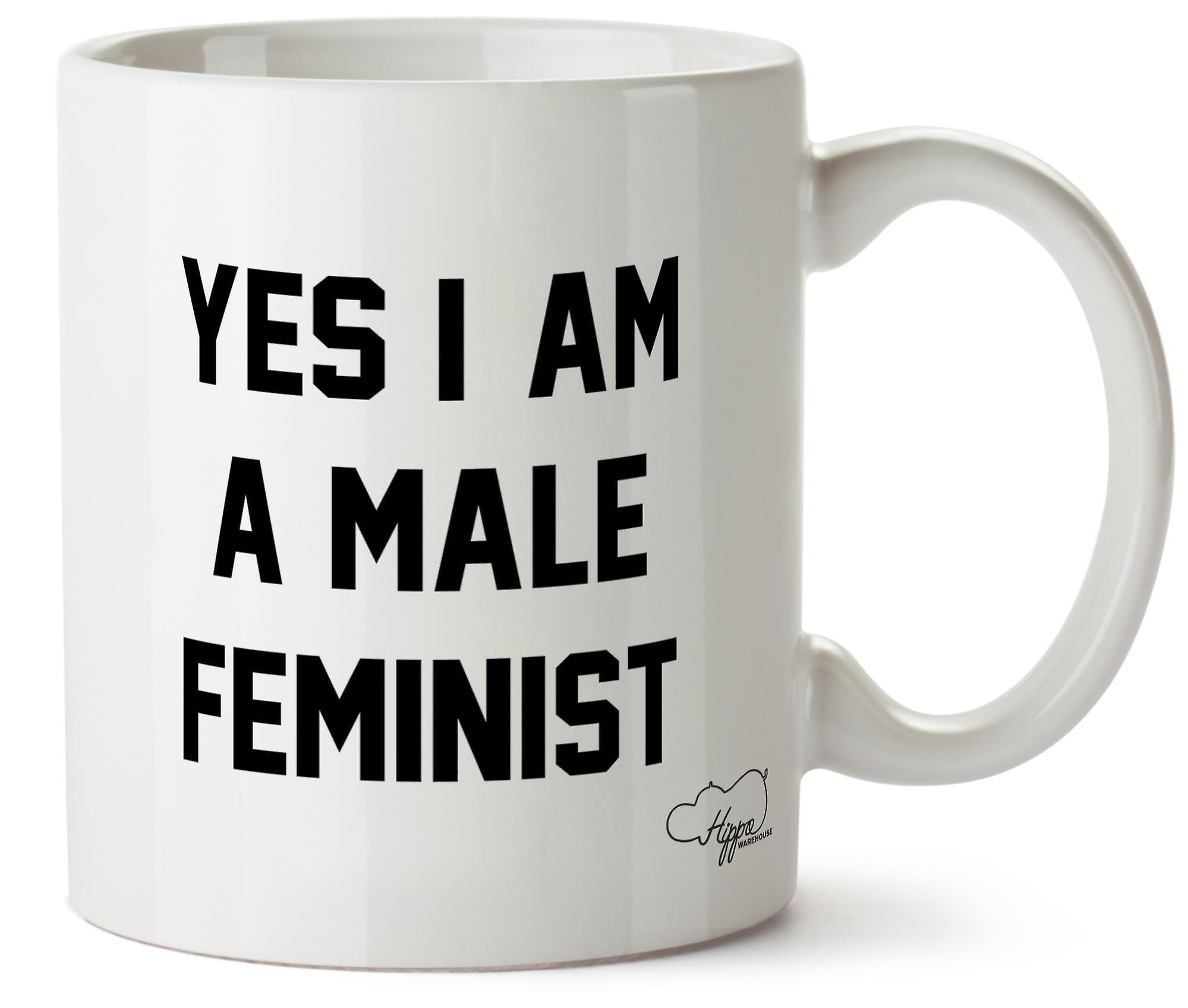 Hippowarehouse Да, я мужчин феминистской печатных кружка Кубок керамическим 10oz