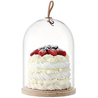 LSA International Ivalo Cake/Cheese/Pastries Dome On Ash Base - 22cm