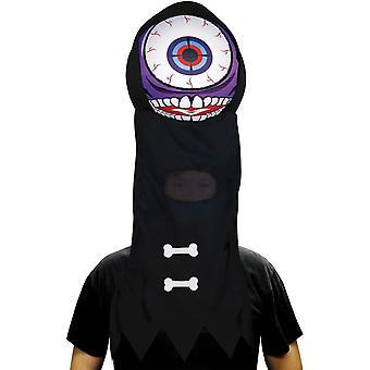 Globo ocular gigante roxo capacete para todos