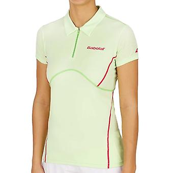 Babolat Girls Tennis Match Performance Short Sleeve Polo Shirt Top - Green