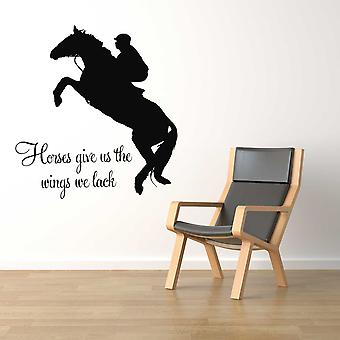 Horses Give us the Wings we Lack Wall Sticker