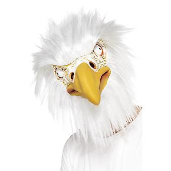 Eagle maska latex Deluxe plnú masku vták Eagle USA maska Karneval