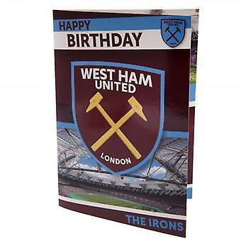 West Ham United Musical Birthday Card