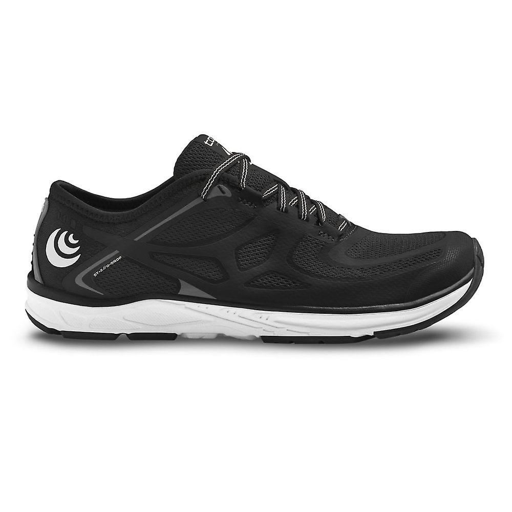 Topo St-2 Mens 0mm Zero Drop & Wide Toe Box Road Running Shoes Black/grey