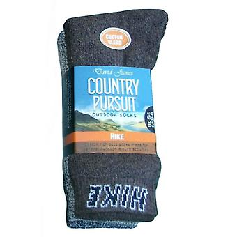 Mens David James Country Pursuit Outdoor Socks Pack of 3