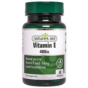 Natur ' s Aid vitamin E 400iu Natural form softgels 60 (18630)