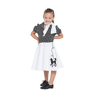 Poodle Dress Child Black/White Spot 116cm