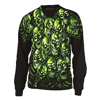 Liquid blue - skull pile - long sleeve shirt