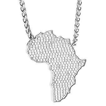 beUNIQUE Iced Out Bling Africa Necklace by Leon Lovelock Silver