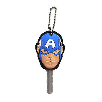 Key Cap - Marvel - Captain American Face Soft Touch PVC Holder 68521