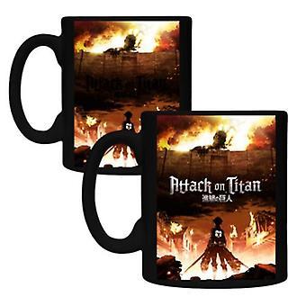 Mug - Attack On Titan - Eren & Titan  Coffee Cup 10oz New cmgc-aot-pstr