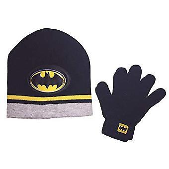 Beanie Cap-DC Comics-Batman Black 3D logo kalap szett w/kesztyű