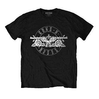 Herren Guns N' Rosen Kreis Logo schwarz Diamante T-Shirt