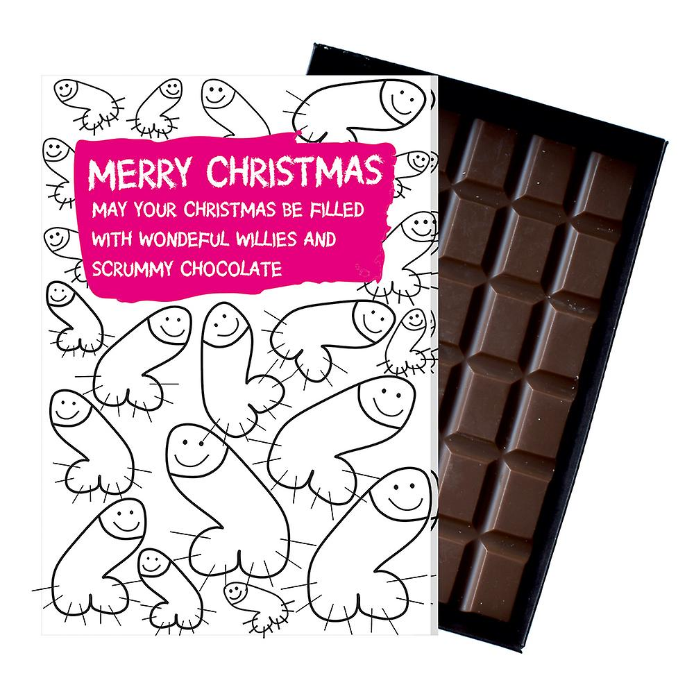 Funny Christmas Gift For Women Girlfriend Chocolate Xmas Greeting Card Present for Her OD132