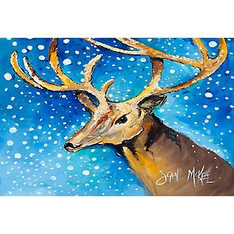 Carolines Treasures  JMK1009PLMT Reindeer Fabric Placemat