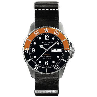Oxygen snooker 44 Quartz Analog Man Watch with Ex-D-SNK-44-NL-BL Lizard Skin Bracelet