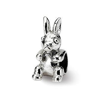 925 sterlinghopea kiillotettu vintage viimeistely Reflections SimStars Kids Bunny Helmi Charm riipus kaulakoru korut lahjat