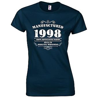 21st Birthday Gifts for Women Her Manufactured 1998 T Shirt