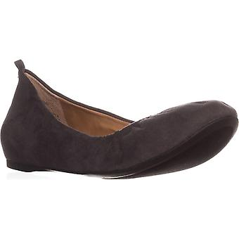 Style & Co. Womens Vinniee Leather Closed Toe Ballet Flats