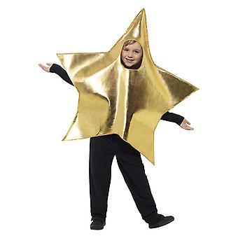 Costumes de fantaisie d'étoile d'or d'or d'enfants