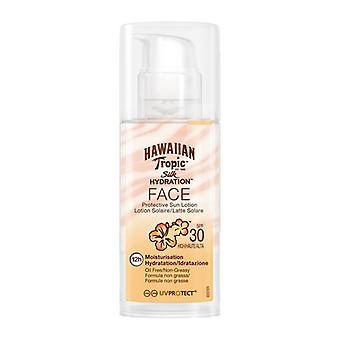Silke ansigt Hawaiian Tropic SPF 30 (50 ml) Solar lotion
