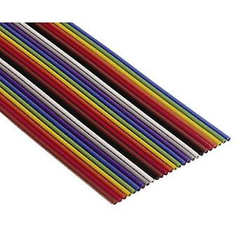 3M 7000145515 Ribbon cable Contact spacing: 1.27 mm 20 x 0.08 mm² Multi-coloured Sold per metre