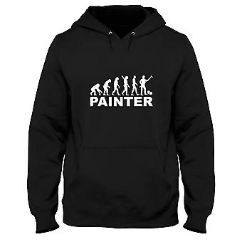 Black men's hoodie dec0091 evolution painter