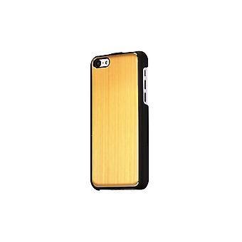 Hull voor zwarte iPhone 5c en golden brushed aluminium
